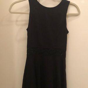 Red Saks Fifth Avenue Black Dress